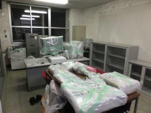 524教授室初期配置。